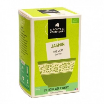 Thé vert de Chine au jasmin.