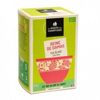 Thé blanc de Chine bio, pétales de rose, arôme naturel de rose
