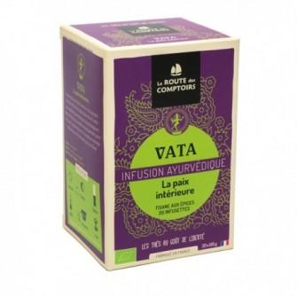Infusion ayurvedique vata, savoureux mélange à base de 6 ingrédients conçus pour se relaxer.
