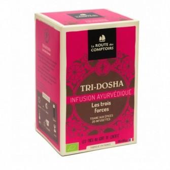Infusion ayurvedique tridosha, Mélange à base de 16 ingrédients savoureux