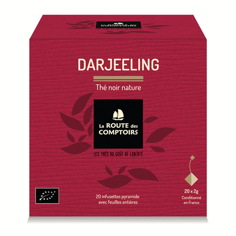 Thé noir d'Inde bio Darjeeling. La Route de Comptoirs.