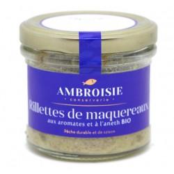 Rillette de maquereaux aux aromates et à l'aneth bio Ambroisie.