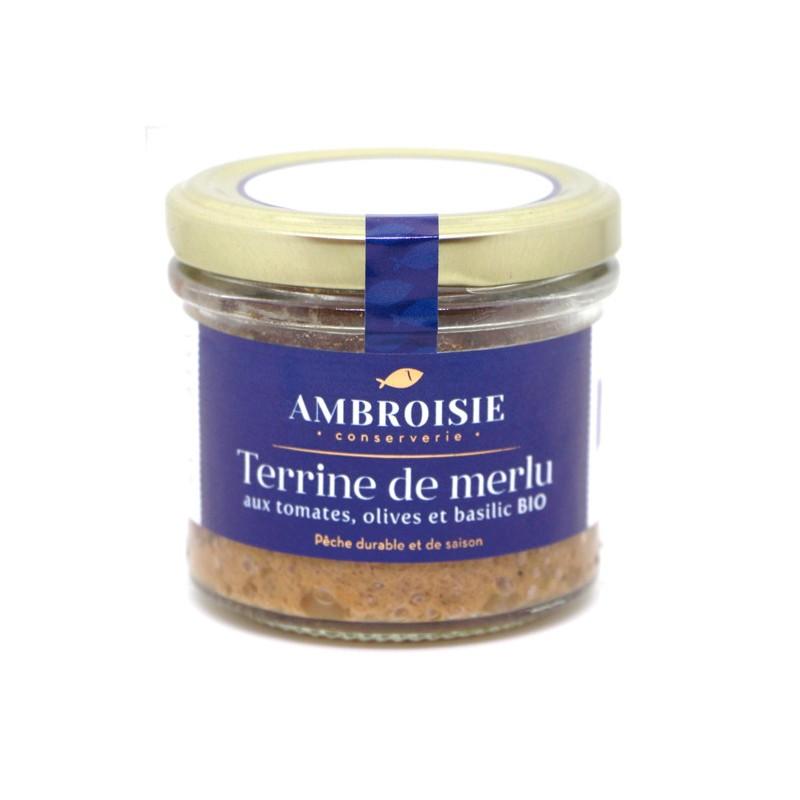 Terrine de merlu bio Ambroisie.