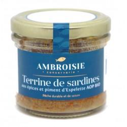 Terrine de sardines bio Ambroisie.