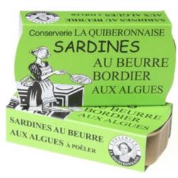 Sardine La Quiberonnaise au beurre Bordier aux algues.