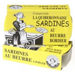 Sardine La Quiberonnaise au beurre Bordier.